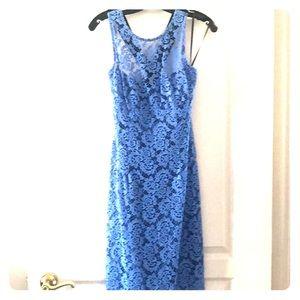 Nanette Lepore Blue Lace Dress (sz 8)